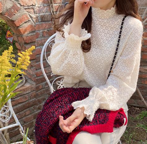 leelin-[제니레스 보송이 기모 반폴라[size:F(55~66)]]♡韓國女裝上衣