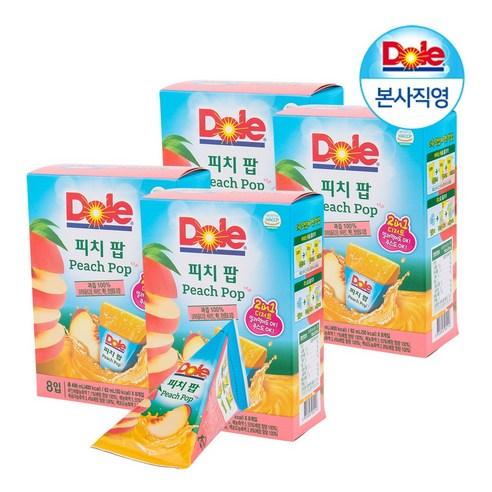 韓國 Dole IcePop 桃味果汁冰冰 8個裝/496g