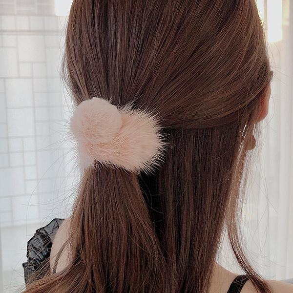 soo-soo-[핑크뮬리 밍크퍼헤어끈 (18H705) [1color]]♡韓國女裝飾品