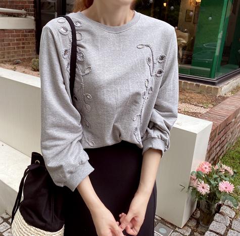leelin-[샤인리브 포인트 티[size:F(55~66)]]♡韓國女裝上衣