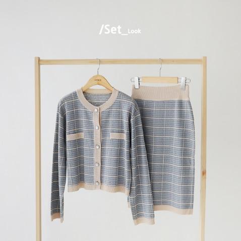 jooen-카일라 가디건 세트(55~통통66)♡韓國女裝套裝