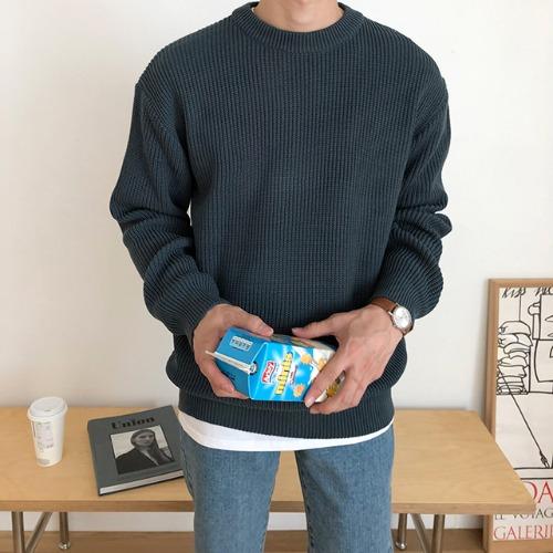 modernsweet-썸데이 하찌 니트 8color - 모던스윗(modernsweet)♡韓國男裝上衣