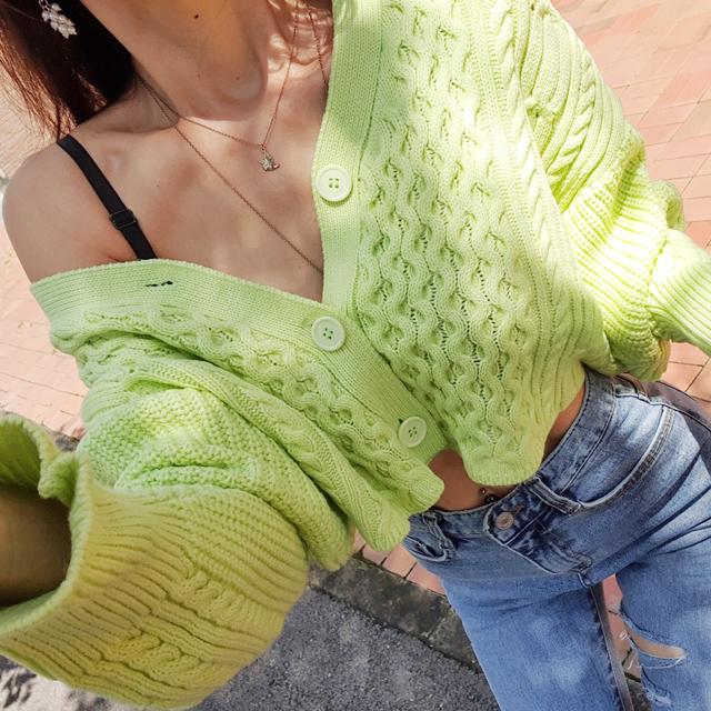 iampretty-[[2170]물결패턴 니트 숏가디건]♡韓國女裝外套