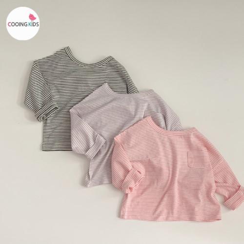 cooingkids-E심플단가라티 아기 유아 아동 여아 티셔츠♡韓國童裝上衣