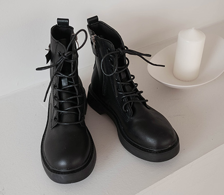 white-fox-[데일리레이스업워커]♡韓國女裝鞋