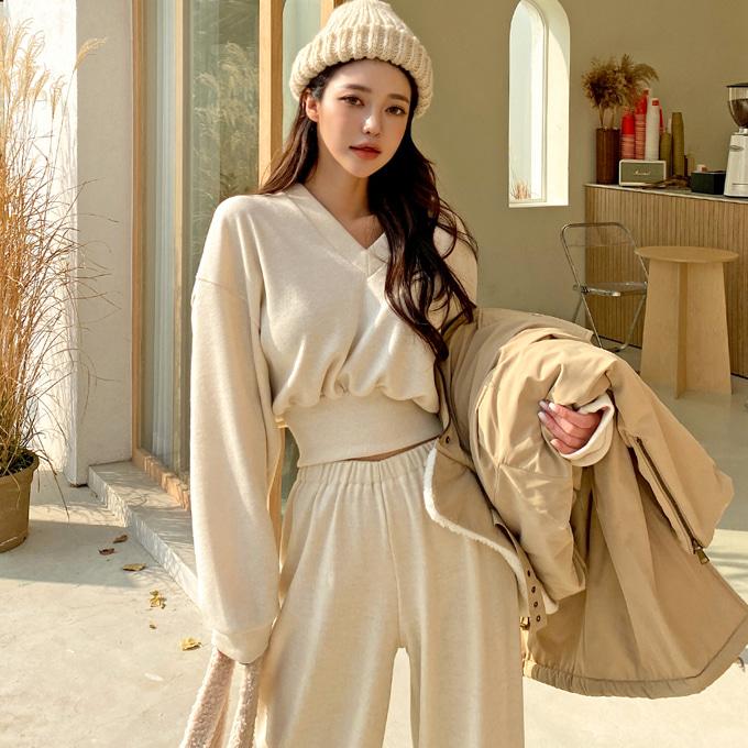 wingsmall-사실난말야(V니트세트)♡韓國女裝套裝