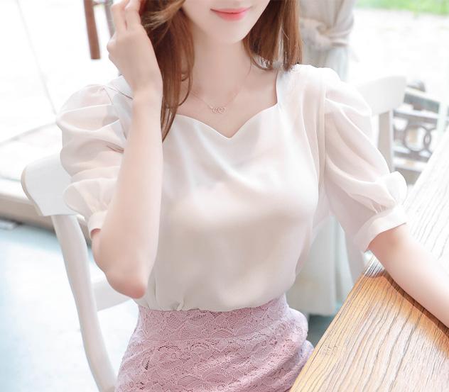 myfiona-여리하트넥*blouse/a0634 - 로맨틱 러블리 피오나♡韓國女裝上衣