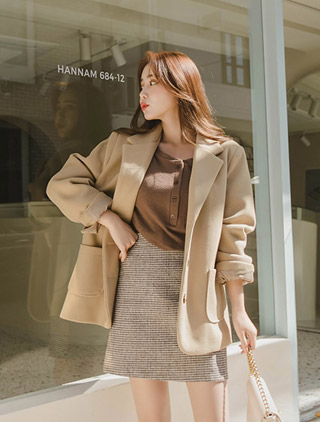 jstyleshop-[헨디벨 울 테일러드 자켓]♡韓國女裝外套