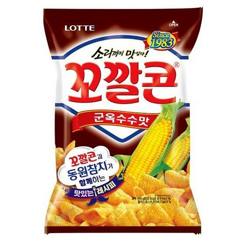 韓國 Lotte BBQ味烤栗米筒 72g
