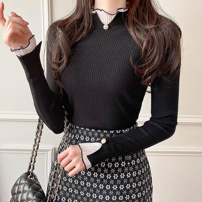 myfiona-메릴리 진주프릴골지티 a1134 - 러블리 로맨틱룩 1위 쇼핑몰 피오나♡韓國女裝上衣