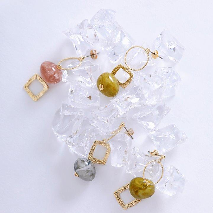 lemite-언발스톤 귀걸이♡韓國女裝飾品
