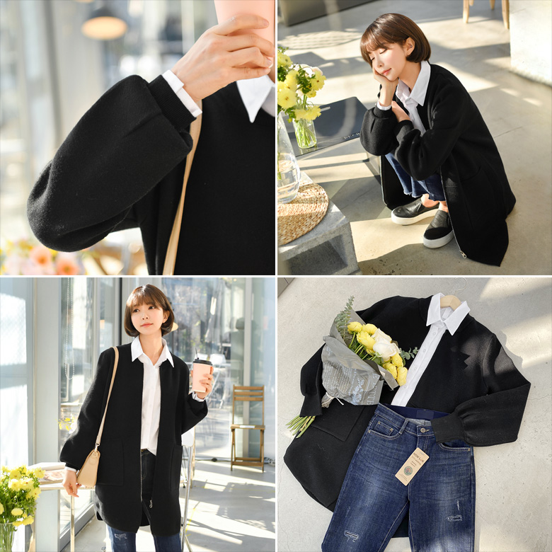 midasb-[카즈 퍼프 가디건 자켓]♡韓國女裝外套