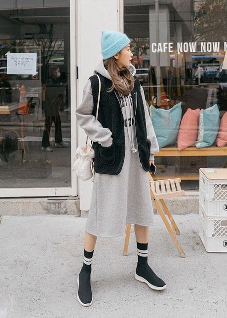 loloten-클라드 덤블 조끼♡韓國女裝外套