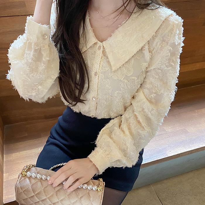 myfiona-버드플라워*blouse/a0903 - 러블리 로맨틱룩 1위 쇼핑몰 피오나♡韓國女裝上衣