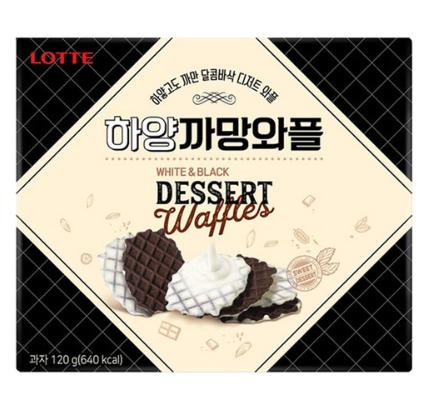 韓國樂天♥黑白窩夫餅 120g