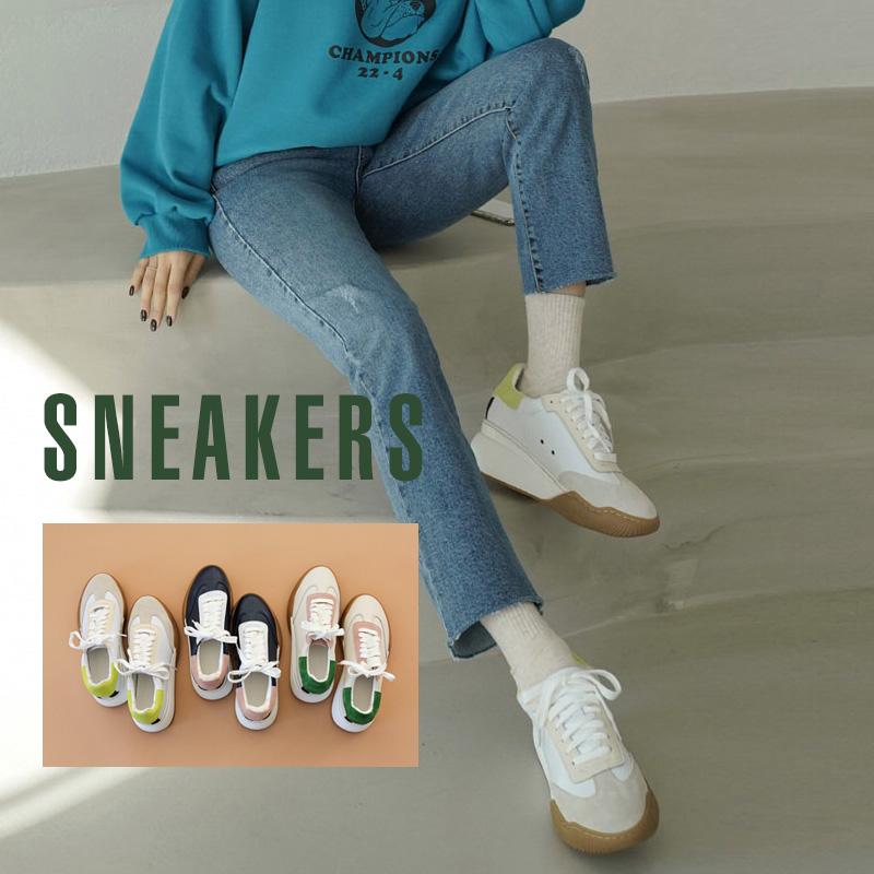 clicknfunny-[벌로룬 소가죽스니커즈]♡韓國女裝鞋