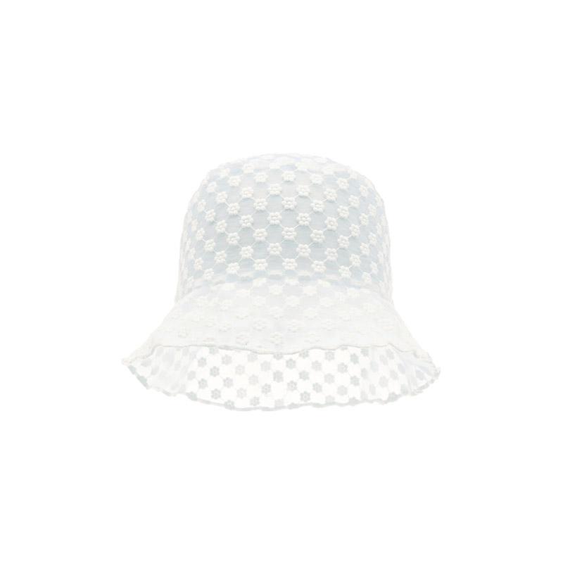 attrangs-ac4561 시스루 감성이 느껴지는 플라워 자수 미사 벙거지 모자 hat♡韓國女裝飾品