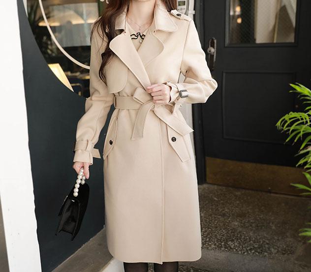 myfiona-포근한마음*trench coat/m9096 - 러블리 로맨틱룩 1위 쇼핑몰 피오나♡韓國女裝外套