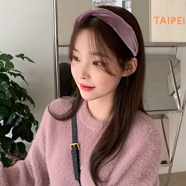 66girls-벨벳꼬임머리띠♡韓國女裝飾品