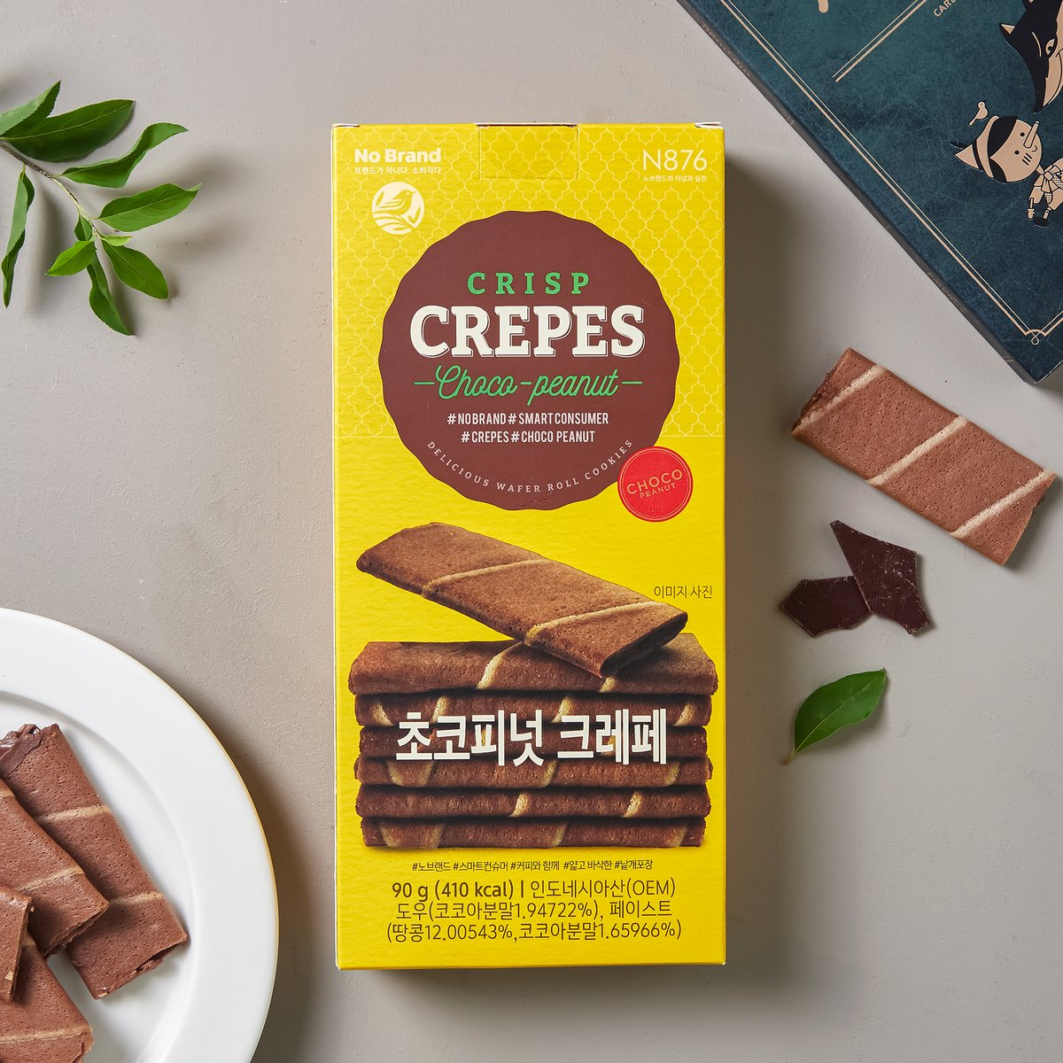 No Brand Crisp Crepe 朱古力花生薄脆 90g