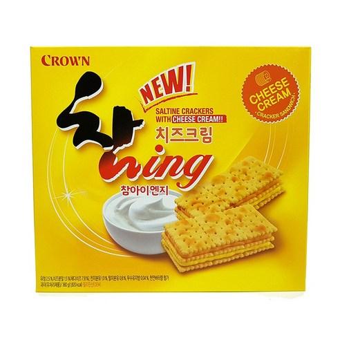 CROWN♥韓國三層芝士夾心忌廉疏打餅 360g