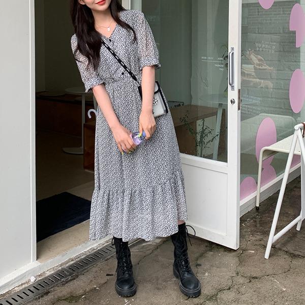 66girls-코르크플라워OPS♡韓國女裝連身裙