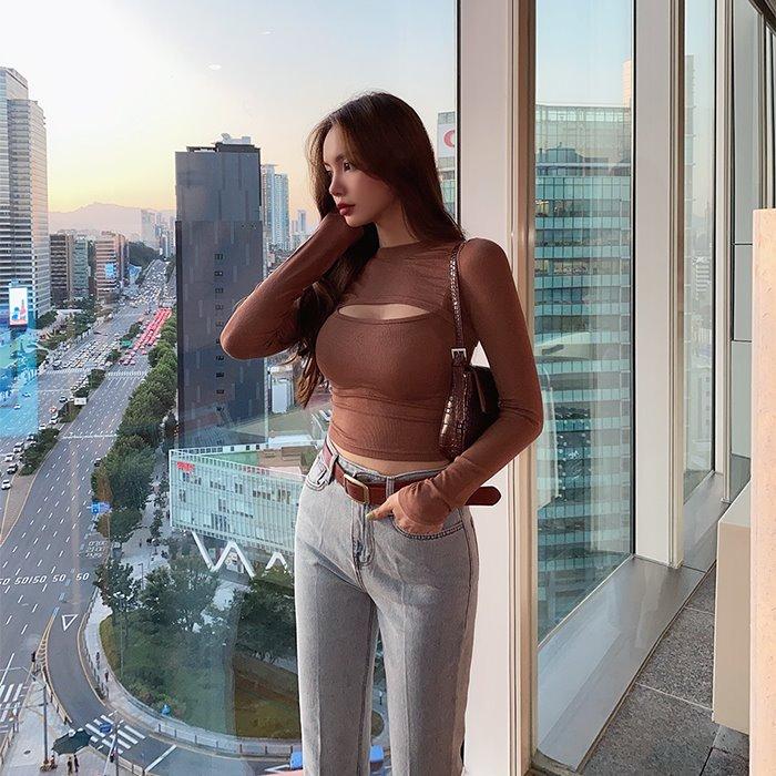 choper-섹시트임볼레로세트♡韓國女裝上衣