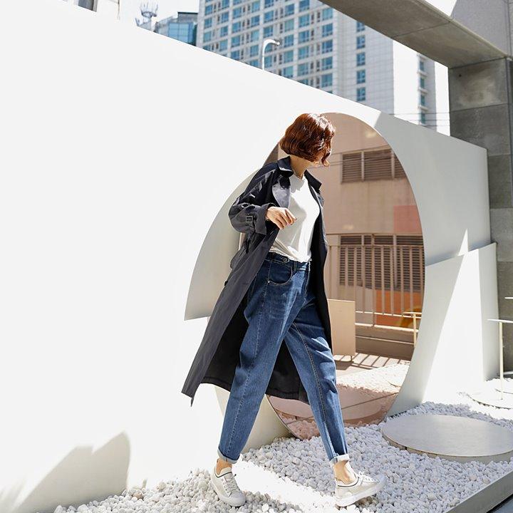 lemite-트렌디 배기데님팬츠♡韓國女裝褲