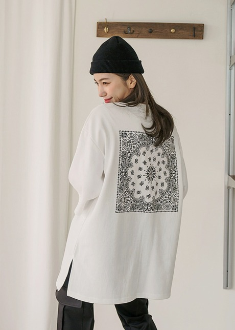 loloten-페스타 페이즐리 티셔츠♡韓國女裝上衣