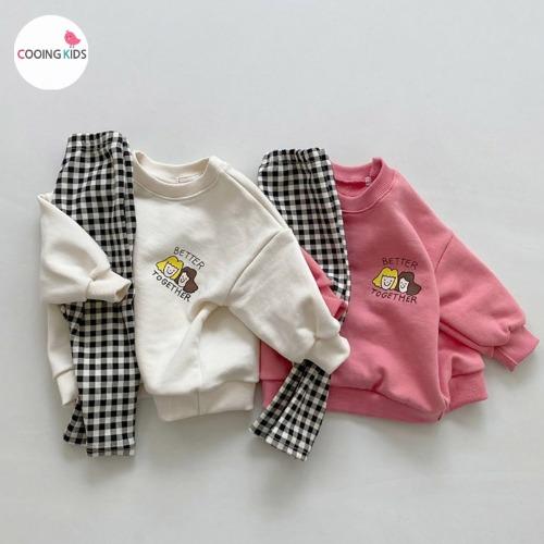 cooingkids-베이비옷 - B투게더맨투맨(레깅스세트) 북유럽아기옷 베이비의류 돌아기옷 문센룩 아기외출복♡韓國幼兒裝