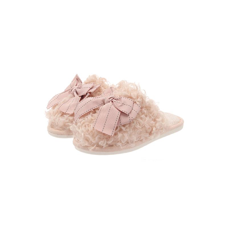attrangs-sh2149 러블리한 무드의 리본 트위드 뽀글이 슬리퍼 shoes♡韓國女裝鞋