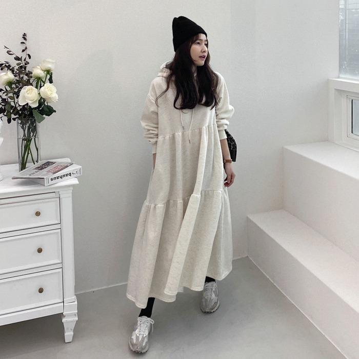 miamasvin-마일빈 후드 기모 원피스 (2color)♡韓國女裝連身裙