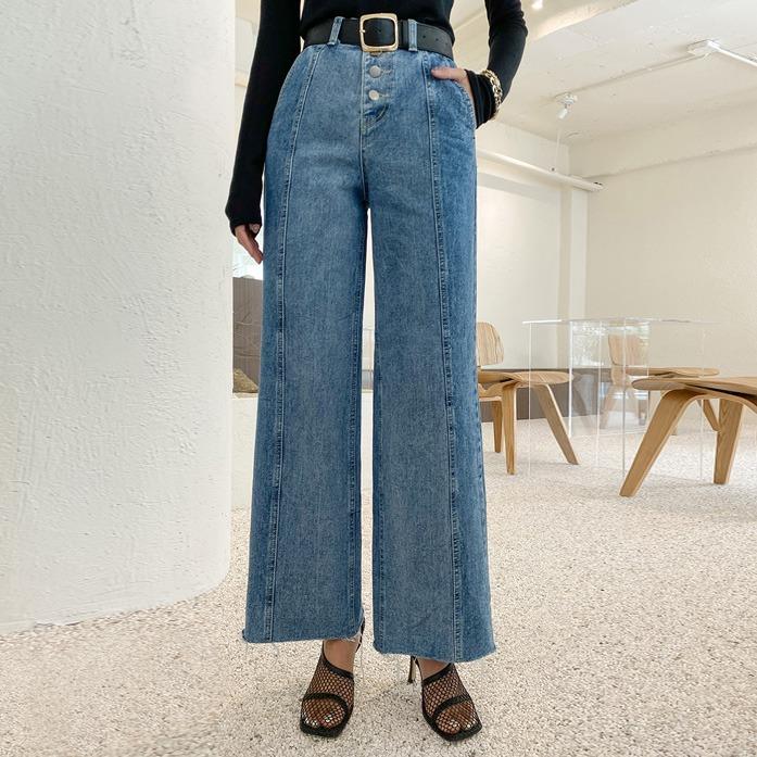 dabagirl-몬베르절개데님(466)♡韓國女裝褲
