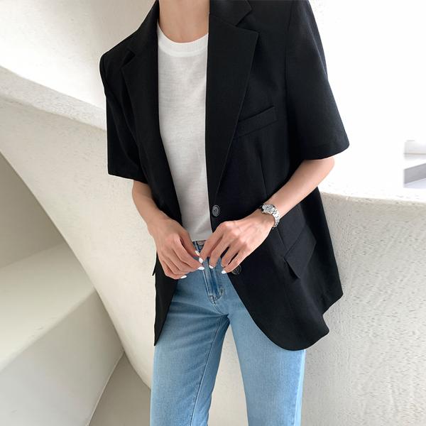 45th-콜린반팔자켓 ♡韓國女裝外套