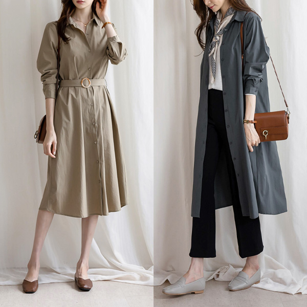 misscandy-[no.19446 써클벨트 베이직 셔츠원피스]♡韓國女裝連身裙