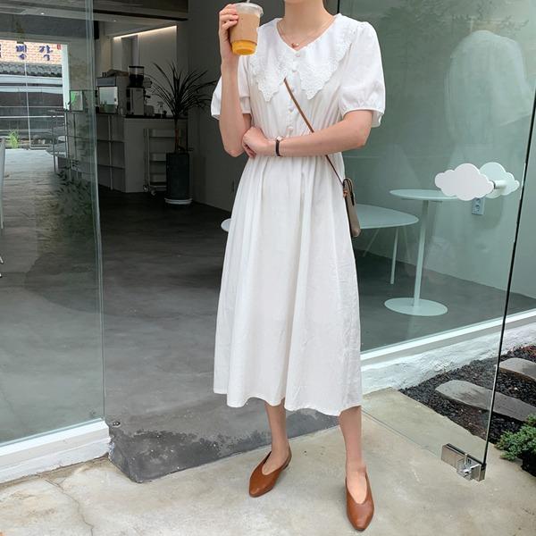 66girls-[LL] 아일렛빅카라롱OPS♡韓國女裝連身裙