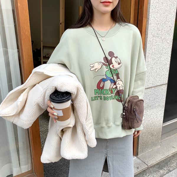 66girls-[disney 정품] 볼링미키양기모MTM♡韓國女裝上衣