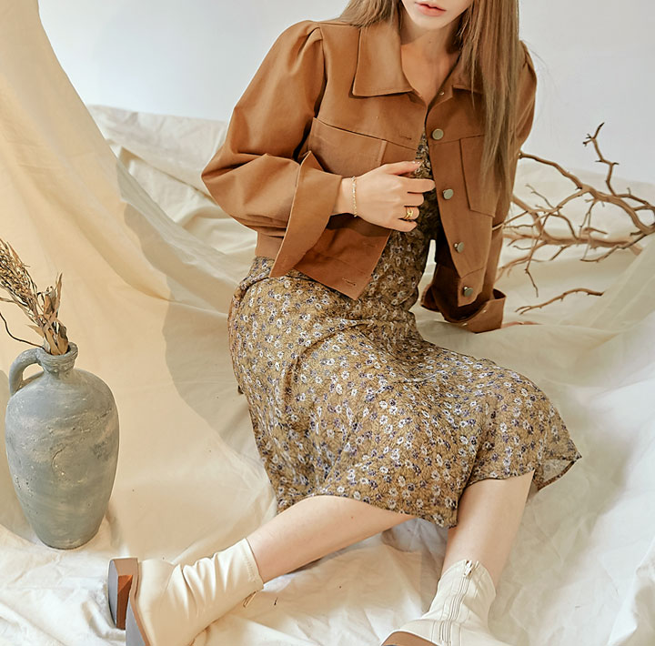 common-unique--올슨 포켓 코튼 자켓♡韓國女裝外套