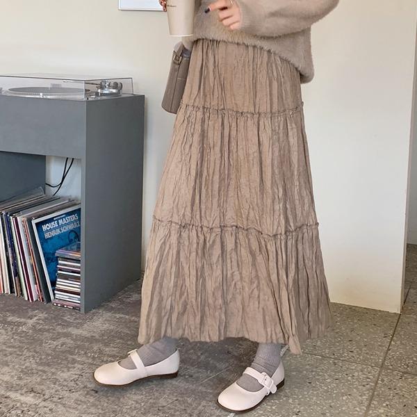 66girls-스웨주름캉캉롱SK♡韓國女裝裙