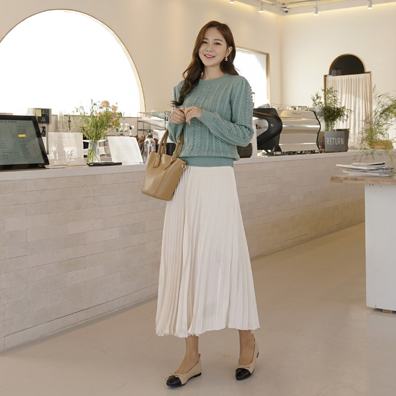 clicknfunny-[킨첼 플리츠스커트]♡韓國女裝裙