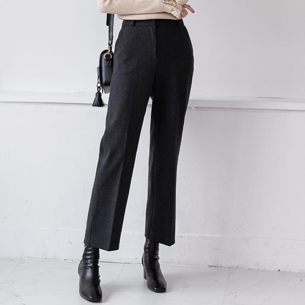 misscandy-[no.19905 텐셀혼방 세미배기핏 기모슬랙스]♡韓國女裝褲