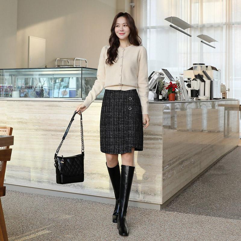 clicknfunny-[알샤르 트위드스커트[S,M사이즈]]♡韓國女裝裙