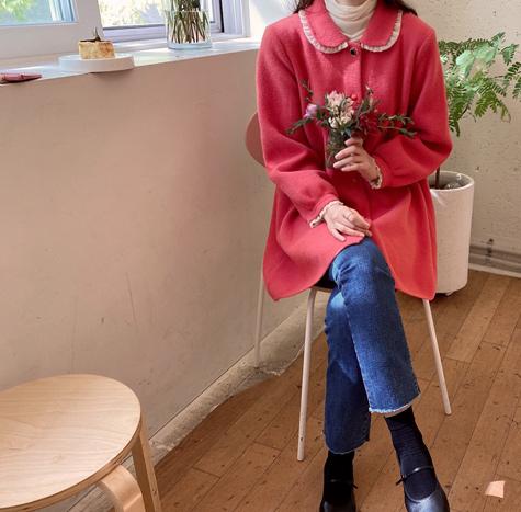 leelin-[비아트 슈카라 니트코트[size:F(55~66)]]♡韓國女裝外套