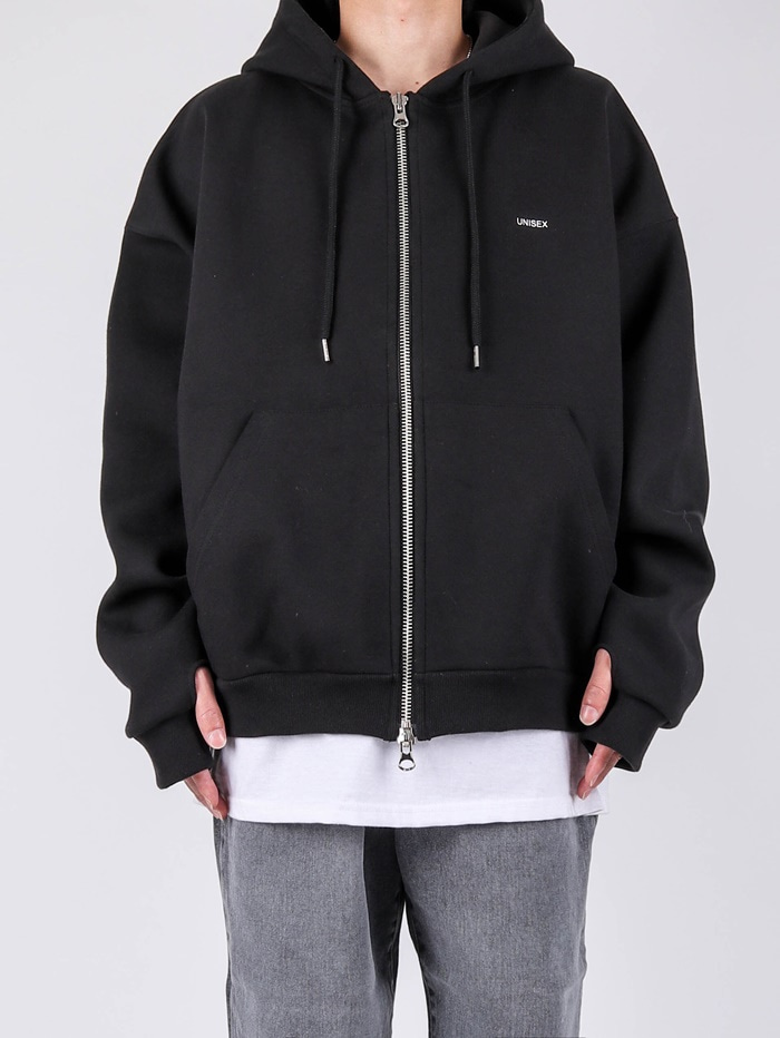 justyoung-AD Unisex Warmer Hooded Zip Up (2color)♡韓國男裝外套
