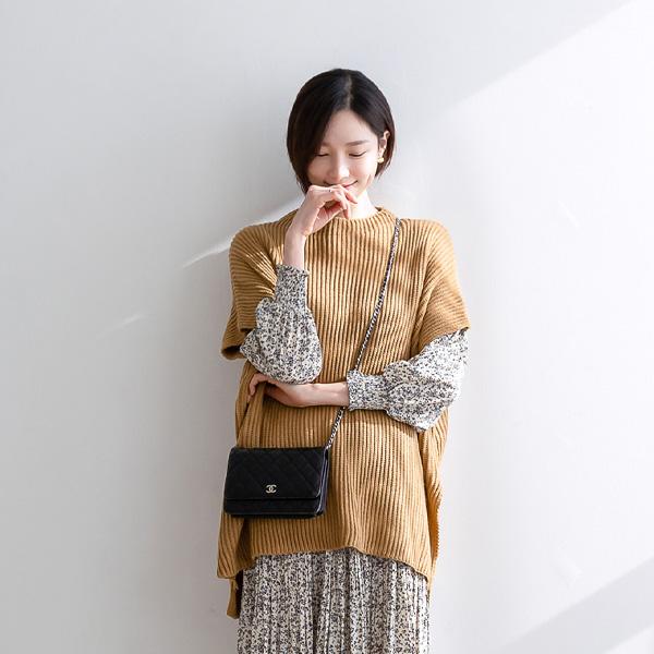 misscandy-[no.19911 드롭숄더 사이드슬릿 루즈핏 니트]♡韓國女裝上衣