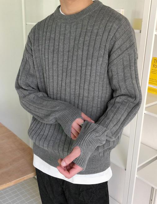 new-more-마론 골지 워머 니트♡韓國男裝上衣
