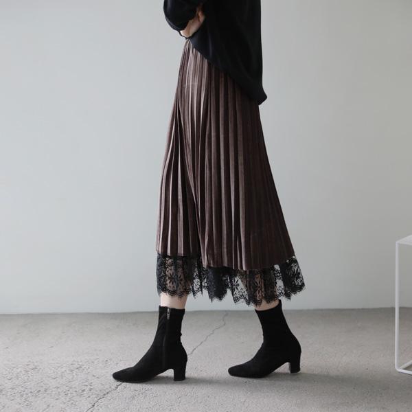 mariangplus-[P] 아넬슨 플리츠 스커트 P_SK1401♡韓國女裝裙