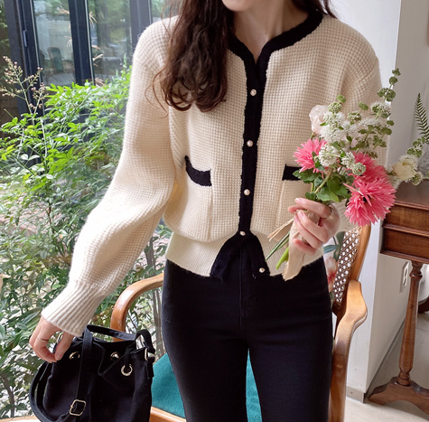 leelin-[에반스 포근와플 가디건[size:F(55~66)]]♡韓國女裝外套