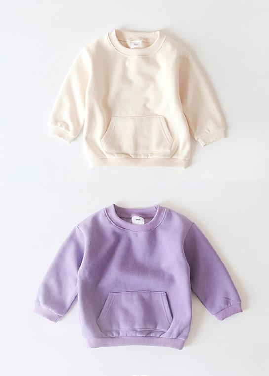 styleggom-(기모)캥거루 맨투맨♡韓國童裝上衣