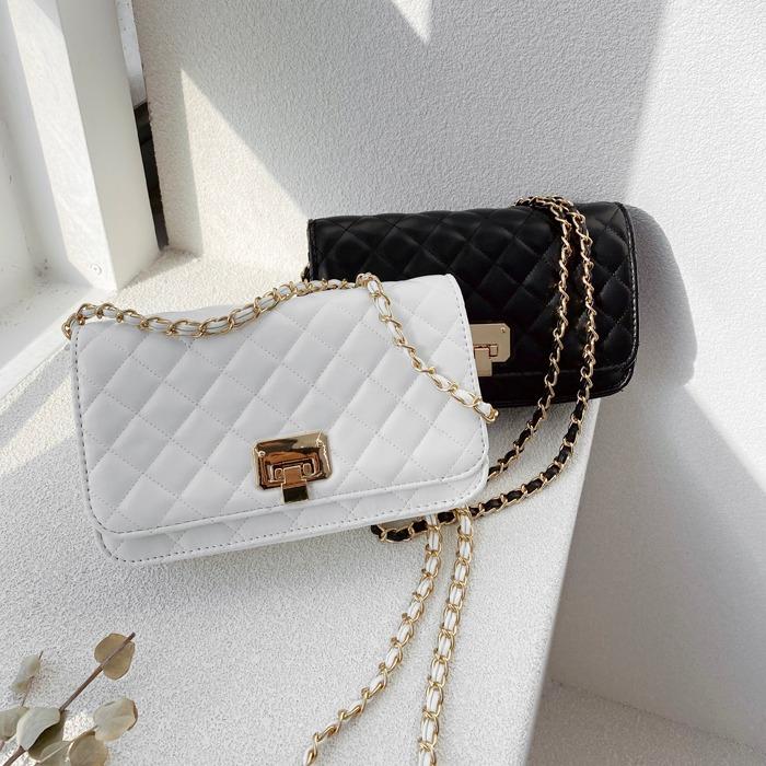 miamasvin-모멘텀 퀼팅 가방 (2color)♡韓國女裝袋